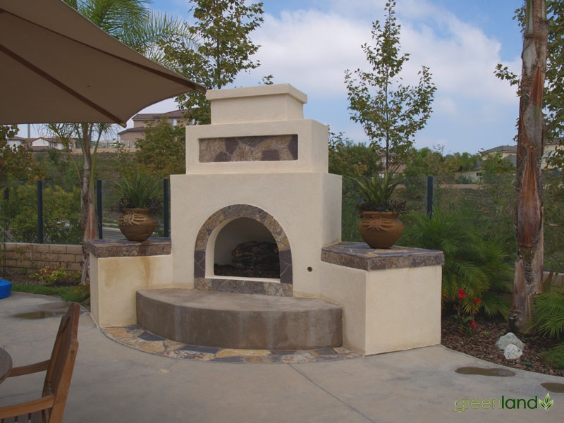 Outside Fireplace