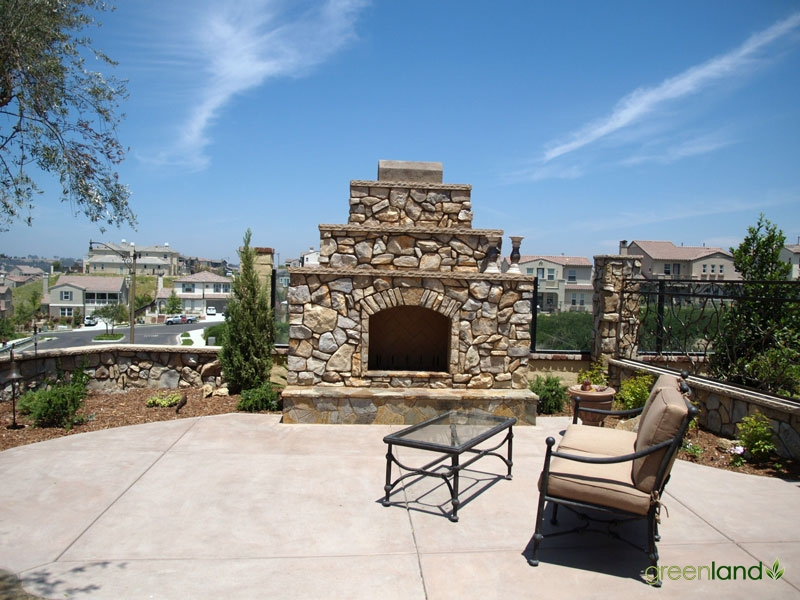 Outside Fireplace with Stone