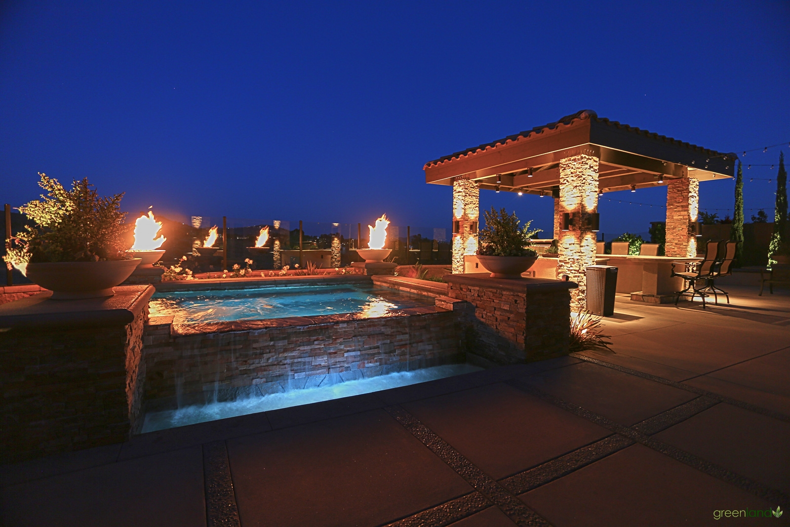 Outside Kitchen and Spa - Night