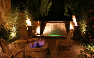 Fire Pit - Side or Courtyard - Night