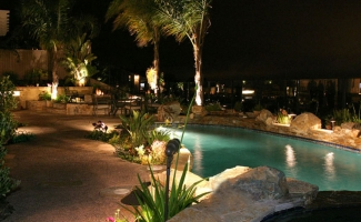 Pool Lighting - Night